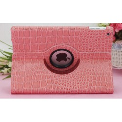 CUSTODIA ROSA SIMILPELLE COCCODRILLO PER APPLE IPAD MINI / MINI 2