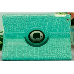 CUSTODIA VERDE SIMILPELLE COCCODRILLO PER APPLE IPAD MINI / MINI 2