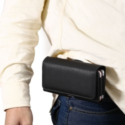 Custodia Leather case Etui Funda Taschen per Universal 5.5 / 6.0 16*8.5*3.5 cm
