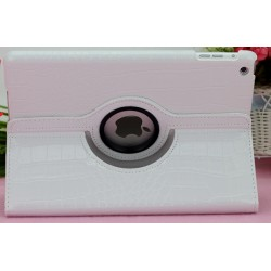 CUSTODIA BIANCA SIMILPELLE COCCODRILLO PER APPLE IPAD MINI / MINI 2
