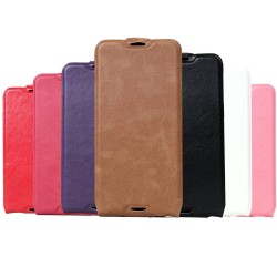 Custodia Leather case Housse Etui Funda carcasa Handy taschen per Alcatel Idol 4S