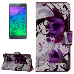 CUSTODIA SIMILPELLE PER SAMSUNG GALAXY ALPHA 850F