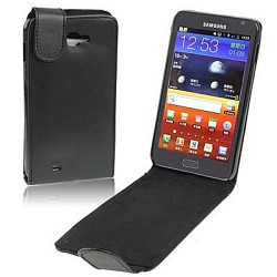 CUSTODIA NERA SIMILPELLE  PER  SAMSUNG GALAXY NOTE N7000 i9220