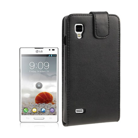 CUSTODIA NERA SIMILPELLE PER LG OPTIMUS P760 L9
