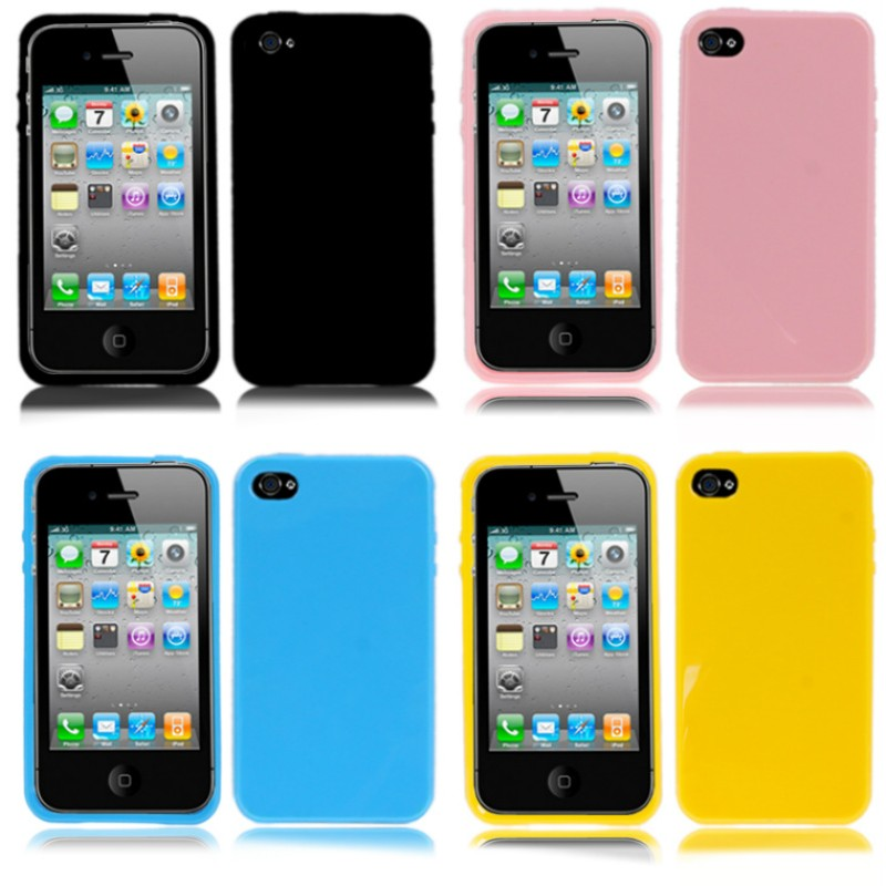 custodia silicone iphone 4s
