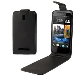 CUSTODIA NERA SIMILPELLE PER  HTC DESIRE 500 506E