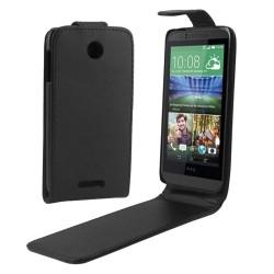 CUSTODIA NERA SIMILPELLE PER  HTC DESIRE 510