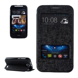 CUSTODIA NERA  SIMILPELLE PER HTC DESIRE 310