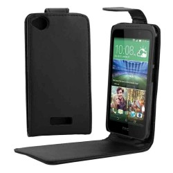 CUSTODIA NERA SIMILPELLE PER  HTC DESIRE 320