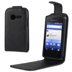 CUSTODIA NERA SIMILPELLE PER ALCATEL OT 4010
