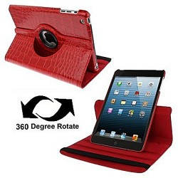 CUSTODIA ROSSA SIMILPELLE COCCODRILLO PER APPLE IPAD MINI / MINI 2