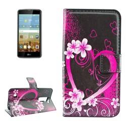 Custodia Cover Wallet Etui Housse Funda Handy taschen leather Case per LG K7