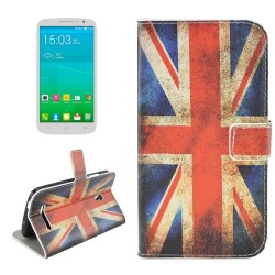 Custodia Cover Leather case Etui Housse Funda Handy taschen per Alcatel OneTouch POP S9